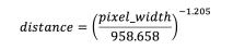 pixel-to-distance-eq